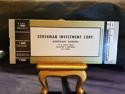 GERSHMAN INV CORP. SLIDE MORTGAGE CALCULATOR  STL MO. 1961
