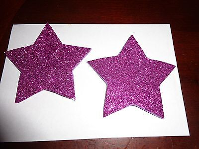 Nipple Covers/ Pasties Glitter Purple Stars