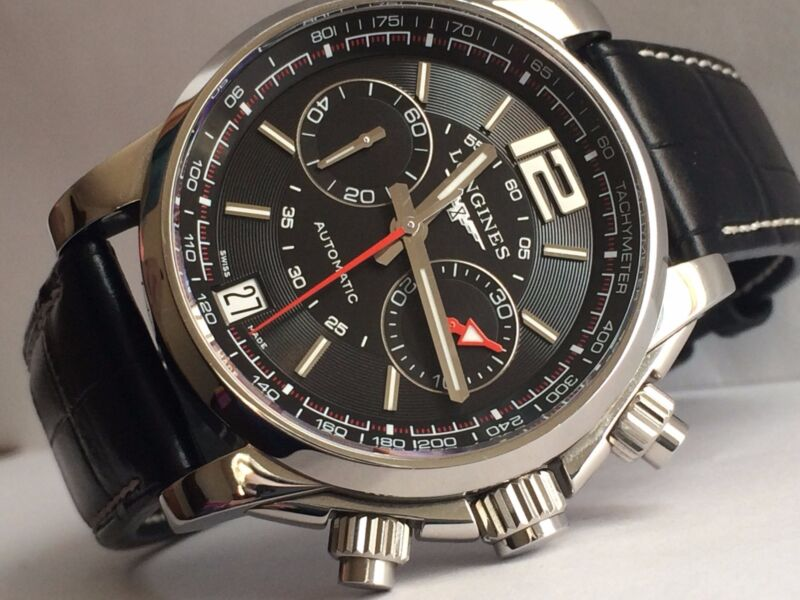 AUTHENTIC NICE Modern Gents LONGINES ADMIRAL AUTOMATIC CHRONO L3.666.4 Watch - watch picture 1