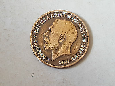 Pièce monnaie coin munt 1920 - 1 penny Grande Bretagne - George V- Great Britain