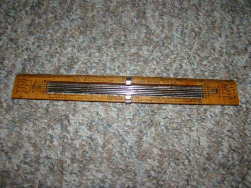 Pat 1903 COOKE-KELLER COMBINATION MUSIC RULER