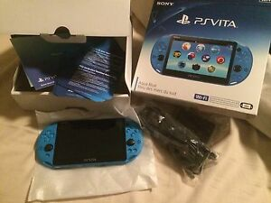 Brand new Aqua Blue PS Vita