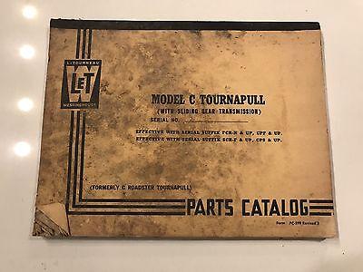 Letourneau Model C Tournapull Sliding Gear Transmission Parts Catalog - Manual