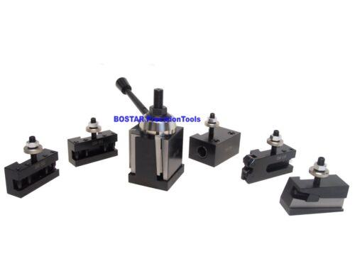 "CXA Size Wedge Type Quick Change Tool Post Set 250-333 for Lathe 13- 18"""
