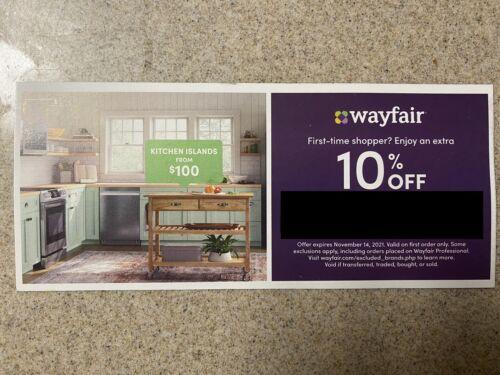 Wayfair Coupon 10 Off First Order - Exp 11/14/2021 - $4.99