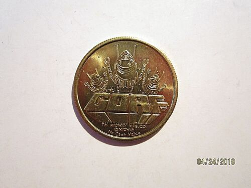 1982 GORF World Fair Video Expo Arcade Token Knoxville TN Near Mint Or better