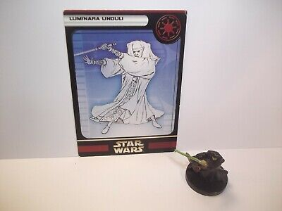 Star Wars Miniatures - Luminara Unduli 18/60 + Card - Rare - Clone Strike