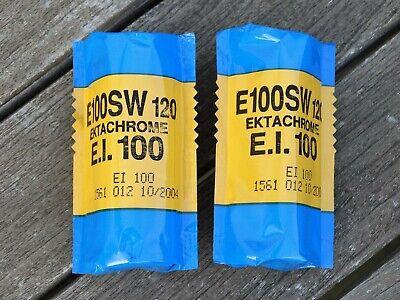Kodak Ektachrome E100SW 120 Colour Reversal Film (2 Rolls) - Dated 10/2004