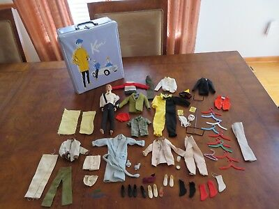 Barbie Doll Ken LOT Vintage Halloween Costume Clothes Outfits Case & more (m869) (Halloween Outfits Original)