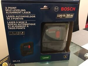 Bosch 3 point self-leveling alignment laser GPL3s