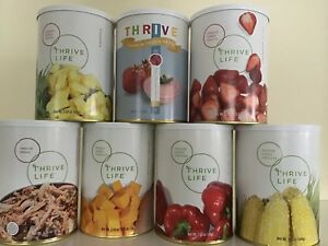 Thrive Life unopened freeze dried fruits, veg & shredded beef