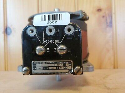 Variable Autotransformer Powerstat 21 Variac Single Phase 120v 0-140 0.63 Kva