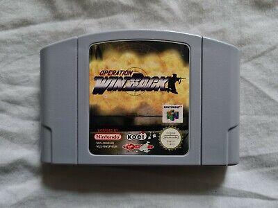 OPERATION WINBACK Nintendo 64 N64 Game PAL VERSION Win Back