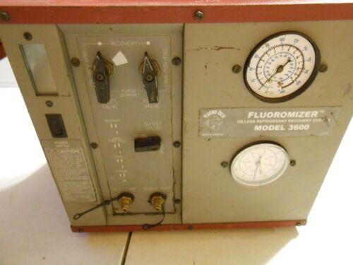 Fluoro Tech Fluoromizer Model 3600 Refrigerant Recovery Machine