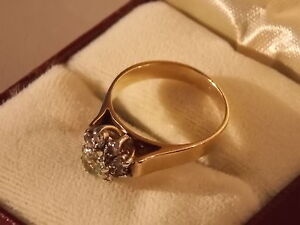 PRICE REDUCED! 'Solid 9ct Gold' Estate Cluster Ring Armidale Armidale City Preview