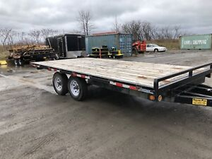 2 - 16 Foot Flatbed Trailers