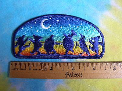 Grateful Dead Dancing Bears Terrapins Crow Moondance 4.5 Inch Iron On Patch