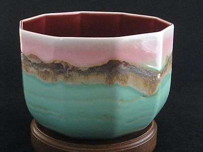 Incredible Studio Art Pottery Glazed Signed Bowl Unknown Artist