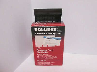 Vintage 1992 Rolodex Business Card System Business Card File 100 Refills New Box