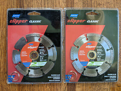 Lot Of Two Norton Clipper Classic 4-12 Diamond Blade Model 07660702789 New