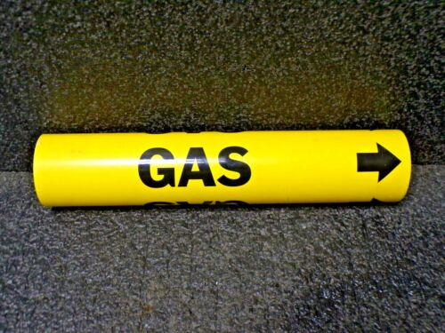 """BRADY 4067-C Snap On Pipe Marker, Gas, Plastic, 2-1/2"""" to 3-7/8"""" Yellow"""