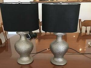 2 x BEDSIDE LAMPS