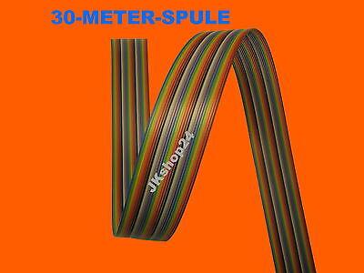 30m Flachbandkabel 26-Adern/polig farbige AWG28 Steuer-Leitung/Daten-Kabel/Litze