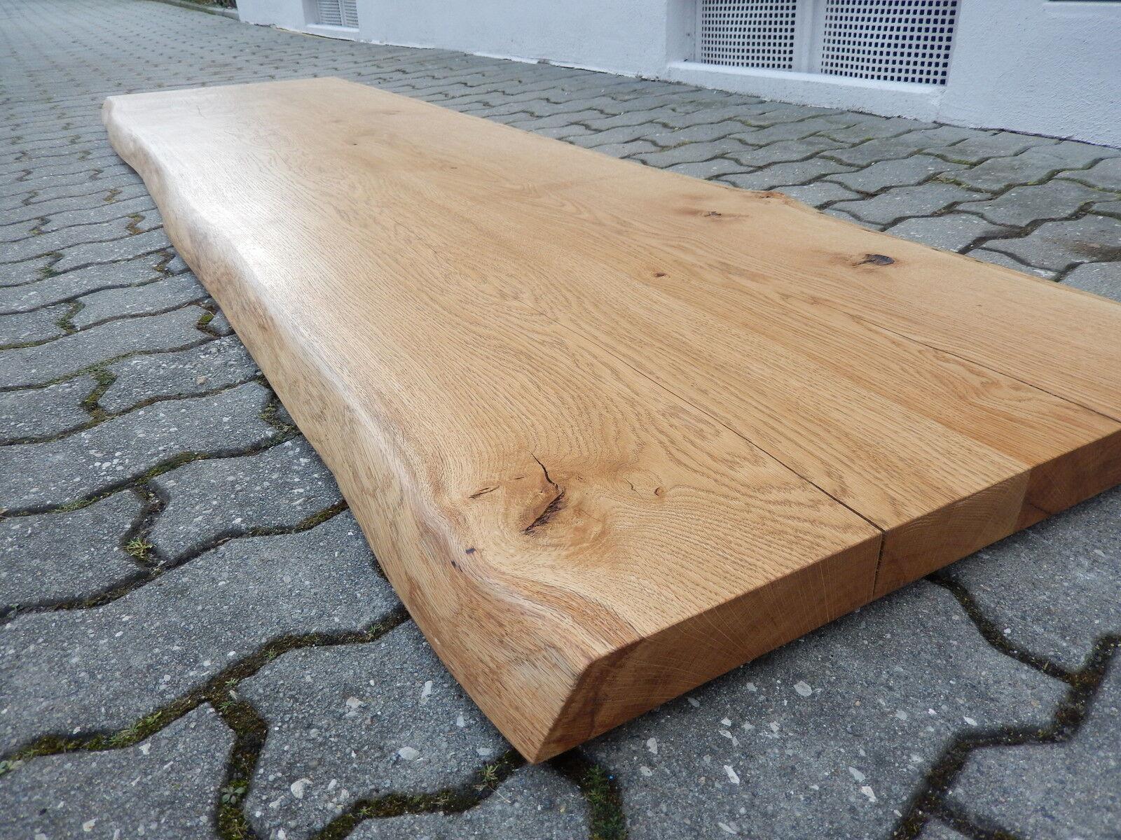 Tischplatte Regalbrett Platte Eiche Wild Massiv Holz