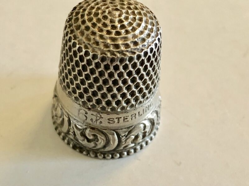 19Th Century Gorham Sterling Silver Thimble With Anchor Mark