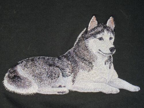 Embroidered Ladies Short-Sleeved T-Shirt - Siberian Husky C4977