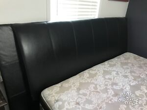 King Leather Bed frame and headboard