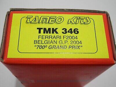 1/43 KIT 346 Tameo Ferrari F2004 Belgian GP 04 700 GP Formula 1 AMR BBR GTO