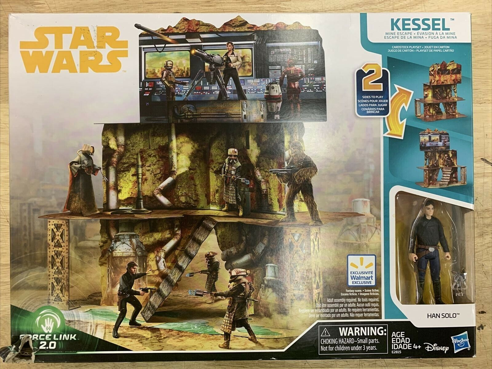New In Box Star Wars Kessel Mine Escape Playset With Han Solo Figure - $19.88
