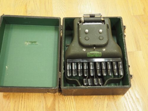 Antique La Salle Stenotype Master Model Four With Case VINTAGE