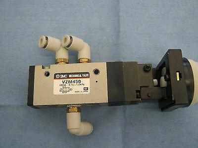 Smc Pneumatics Model Vzm450 Black Push Button