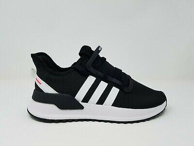Adidas U Path Run Youth Black White G28108 Sz 4-7 Running Casual Walking School