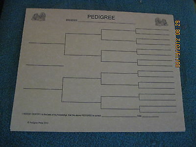 Lhasa Apso Blank Pedigree Sheets Pack 10 FREE SHIPPING IN USA dog