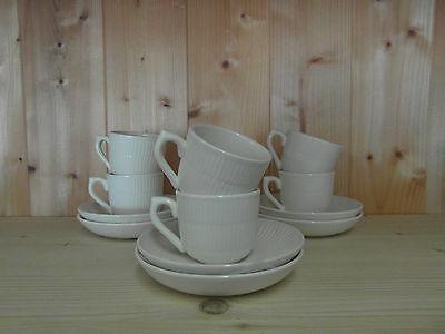 6 tasses à moka + 6 sous tasses Royal Boch Vienne