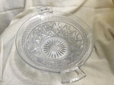 """Imperial Glass CAPE COD CLEAR DOUBLE OPEN HANDLED BOWL - 9 1/4"""""""