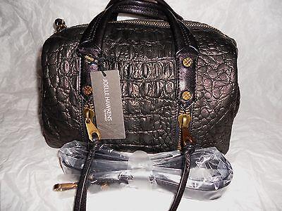 Joelle Hawkens by treesje Currie Satchel Black Croc NWT MSRP $295 REDUCED !!