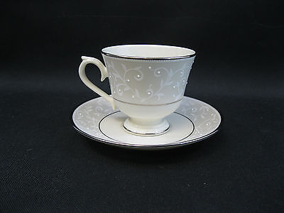 Lenox Pearl Innocence~(1)~Cup and Saucer ~Outlet Mark~Perfect~Dishwasher Safe