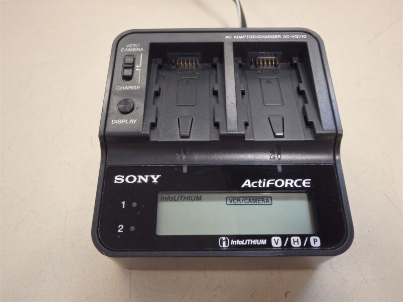 Sony AC-VQV10 ActiForce Dual AC Adapter Charger