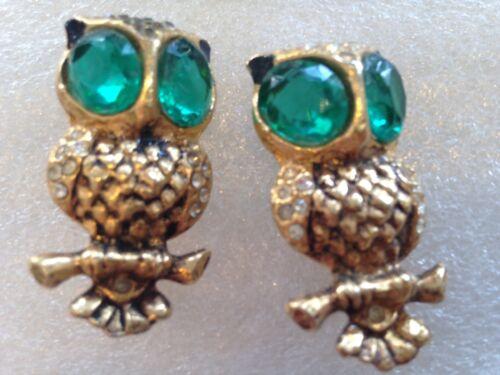 Vintage unsigned Coro duett owls