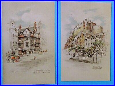 Edinburgh-John Knox's House & The Castle  by Andrew Allan(1863–1942)