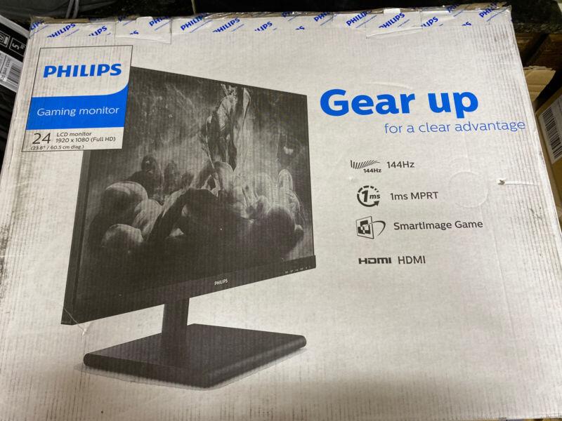 "Philips 24""FHD 144Hz 1ms FreeSync 242E1GSJ Premium Gaming Monitor"