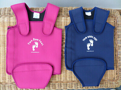 x2 Blue and Pink Baby Wrap Body Warmer Swim Suit By Two Bare Feet 12-18/18-24