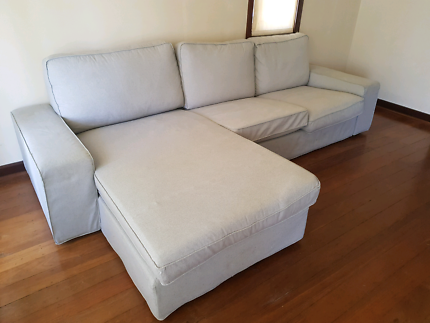 Ikea Kivik Sofa with additional isunda grey covers