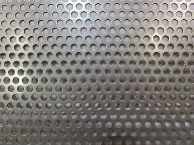 14 Holes On 38 Centers 16 Ga. Stainless Perforated Sheet-12 X 12