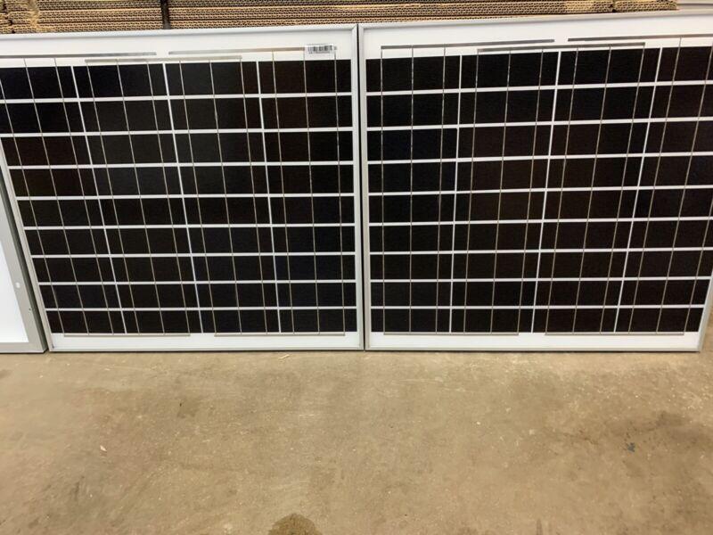 100 Watt 12 Volt Mono Solar Panel 2-50w 12V Off Grid RV Marine Battery Charging