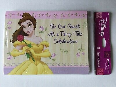 Disney Princess Belle Be Our Guest Party Invitations with Envelopes Set of - Disney Princess Party Invitations